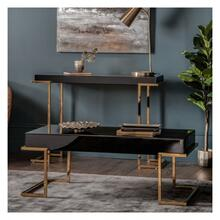 GA Delray Black Mirrored Coffee Table