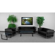 See Details - HERCULES Regal Series Reception Set in Black LeatherSoft
