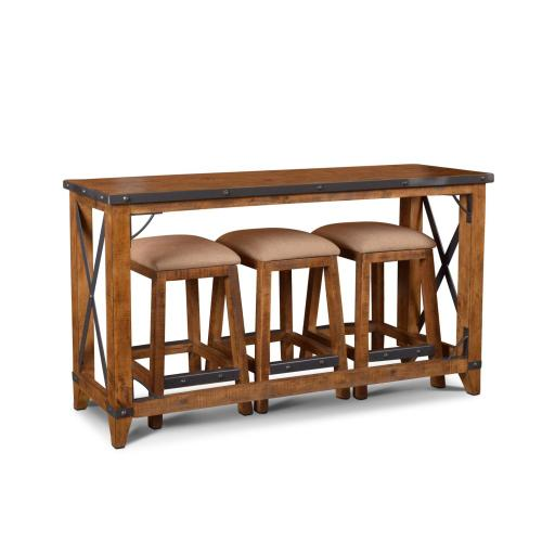 Counter Dining Set w/Stools - Rustic Collection (4 Piece)