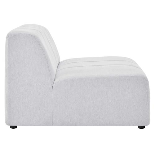 Modway - Bartlett Upholstered Fabric Armless Chair in Ivory