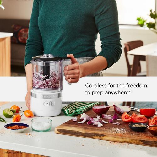 KitchenAid Canada - 5 Cup Cordless Food Chopper - White