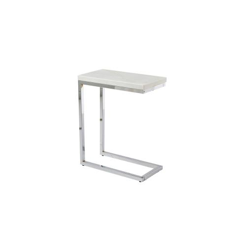 Echo White Marble Top Chairside End Table