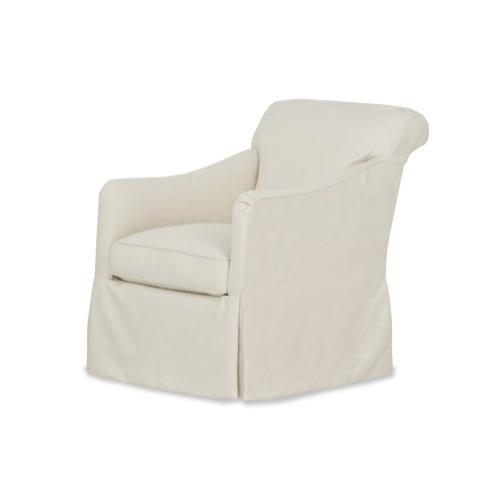 Calhoun Slipcovered Swivel Chair