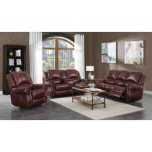 Del Rio Wine Leather (Sofa & Love) Power Sofa
