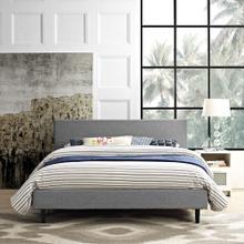 Anya Queen Bed in Light Gray