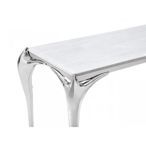 Modrest Vince - Faux Marble & Stainless Steel Console Table