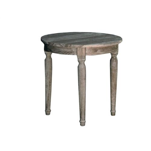Round Lamp Table, Available in Vintage Smoke Finish Only.