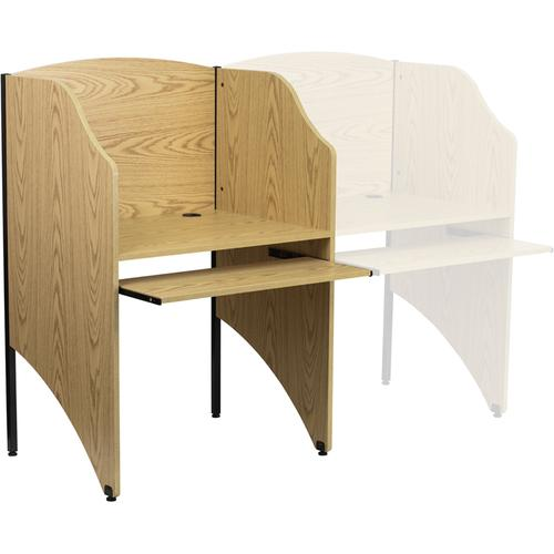 Flash Furniture - Starter Study Carrel in Oak Finish