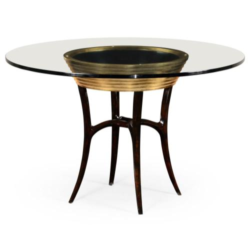 """48"""" Stepped gilded circular dining table"""