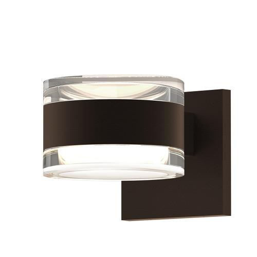 Sonneman - A Way of Light - REALS® Up/Down LED Sconce [Color/Finish=Textured Bronze, Lens Type=Clear Cylinder Lenses]