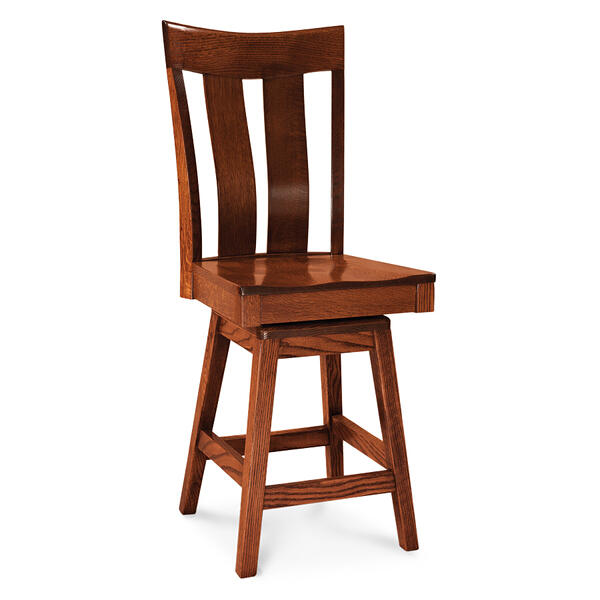 "Lincoln Swivel Barstool, 24""h, Fabric Seat"