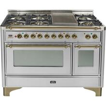 48 Inch Stainless Steel Dual Fuel Freestanding Range