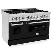 """View Product - ZLINE 48"""" Professional Dual Fuel Range in Stainless Steel with Color Door Options (RA48) [Color: Black Matte]"""