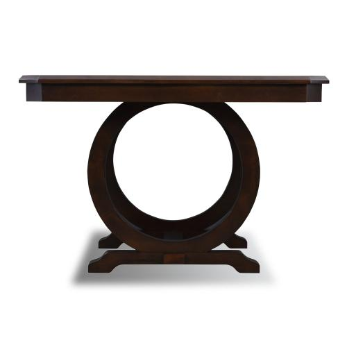 2 Large Open Circle Sides Gathering Table, Cherry