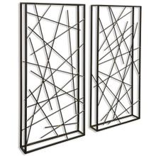 Contemporary Set of 2 Metal Wall Sculptures