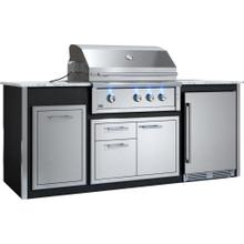 "Appliance Ready Pre-Assembled 36"" Designer Island Black"