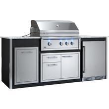 "See Details - Appliance Ready Pre-Assembled 36"" Designer Island Black"
