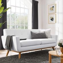 See Details - Engage Upholstered Fabric Loveseat in White