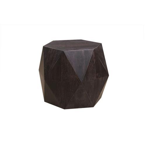 Prism Noir Hexagonal End Table, HC2757M01-B