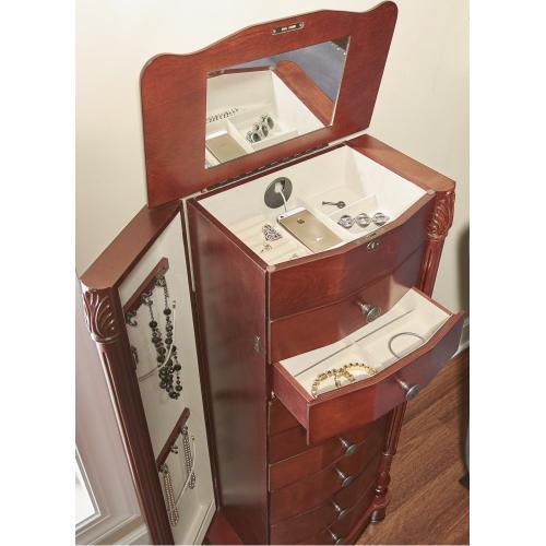 8-drawer Jewelry Armoire, Cherry