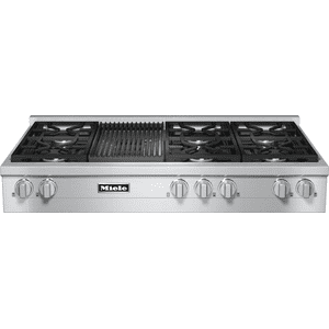 RangeTop with 6 burners and grill for versatility and performance