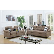 Emanuel 2pc Loveseat & Sofa Set, Lt-coffee