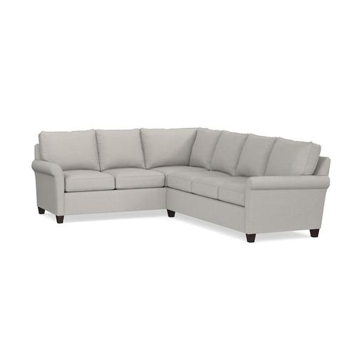 Connor Large L-Shaped Sectional, Arm Style Panel
