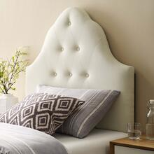View Product - Sovereign Twin Upholstered Fabric Headboard in Ivory