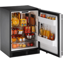 "Stainless Right-hand 2000 Series/ 24"" Refrigerator Model/ Single Zone Convection Cooling System"