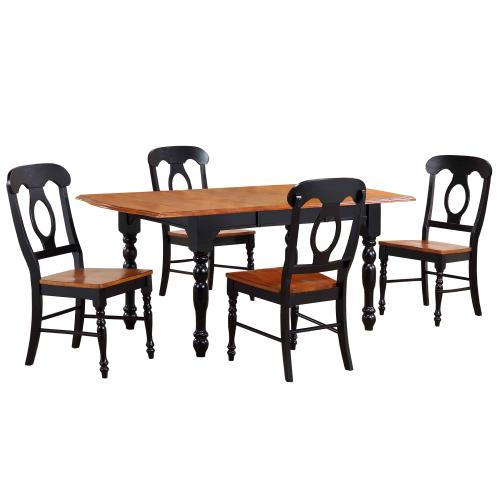 Product Image - Drop Leaf Extendable Dining Set w/Napoleon Chairs (5 Piece)