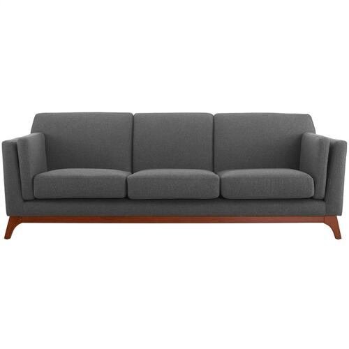 Chance Upholstered Fabric Sofa in Gray
