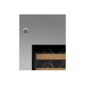 "Integrated Stainless Steel 30"" Tall Wine Storage Door Panel with Pro Handle and Lock - Left Hinge"