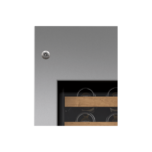 """Integrated Stainless Steel 18"""" Wine Storage Door Panel with Pro Handle and Lock - Left Hinge"""