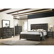 NEW CLASSIC FURNITURE B677B-335 B677B-315 B677B-060 B677B-050 Andover Nutmeg 3-Piece Bedroom Group - Queen Bed, Dresser & Mirror