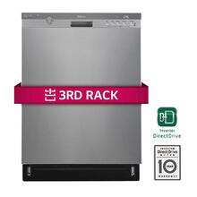 See Details - Front Control Dishwasher w/ Height Adjustable 3rd Rack