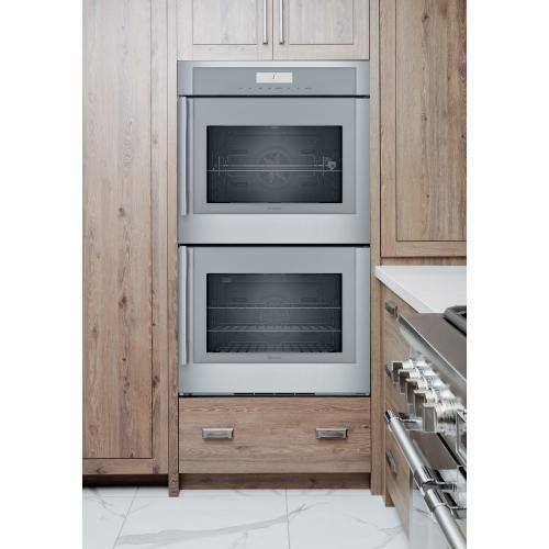 Thermador - Double Wall Oven 30'' Right Side Opening Door, Stainless Steel MED302RWS
