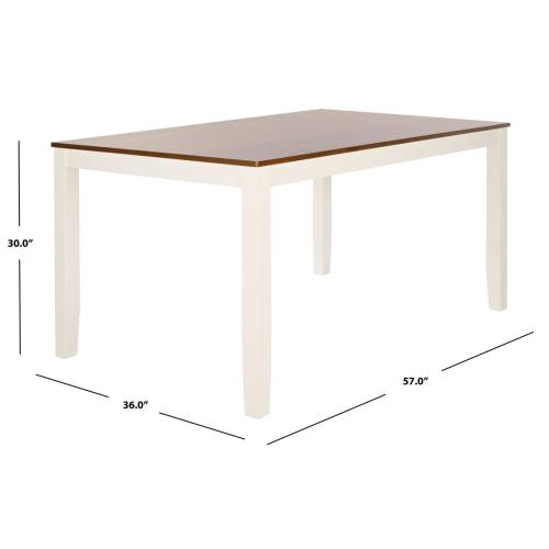 Silio Rectangle Dining Table - White / Natural