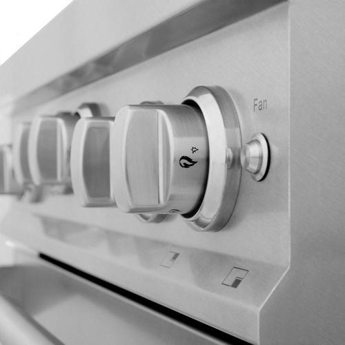ZLINE 30 in. Professional 4.0 cu. ft. 4 Gas on Gas Range in DuraSnow® Stainless Steel (RGS-SN-30)
