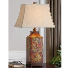 View Product - Colorful Flowers Table Lamp