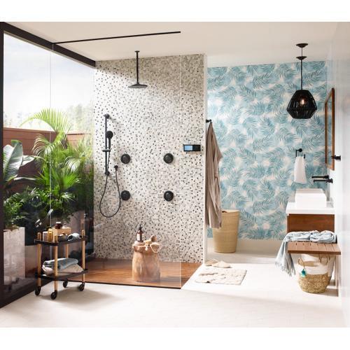 U by Moen Shower Matte Black 2-outlet digital shower controller