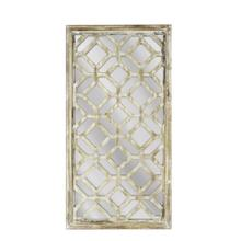 Antique Wood Latticed Mirror, Wb