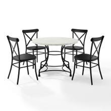 "MADELEINE 40"" 5PC DINING SET W/CAMILLE CHAIRS"