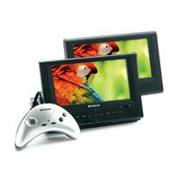 "DPA-08055S: 8"" Two Screen Portable DVD Player with 15-in-1 Game Controller"