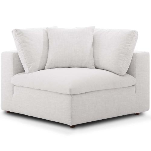 Commix Down Filled Overstuffed 3 Piece Sectional Sofa Set in Beige