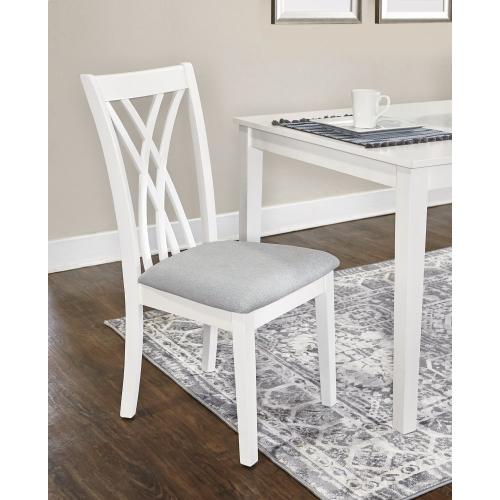7-piece Dining Table Set, White