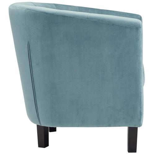 Modway - Prospect 3 Piece Performance Velvet Loveseat and Armchair Set in Sea Blue