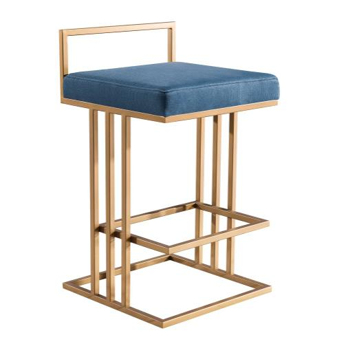 Trevi Slub Blue Counter Stool