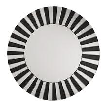 See Details - The Jazz Note Round Wall Mirror With Black Glass