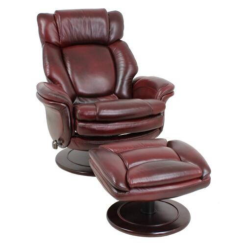 Product Image - Lumina 15-8000 Pedestal Chair and Ottoman in Traverse-burgundy 3481-25