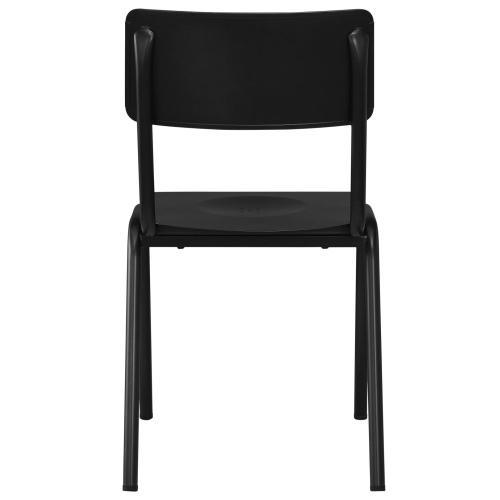 Luke KD Metal Chair, Metallic Gunmetal